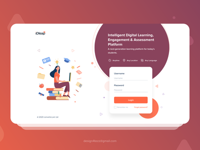 Idleap login page education website education app logos app loginscreen login page login interactions ui illustration art art illustration uiux visual designs minimal