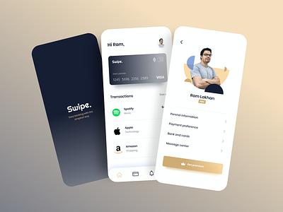 Banking app brand ui figmadesign typography interactions minimal visual designs login bankingapp banking dashboard