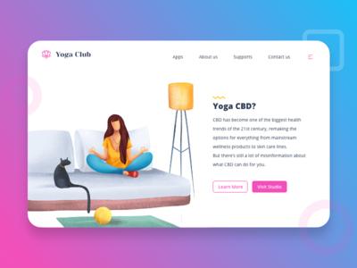 Yoga Club - Concept Landing Page