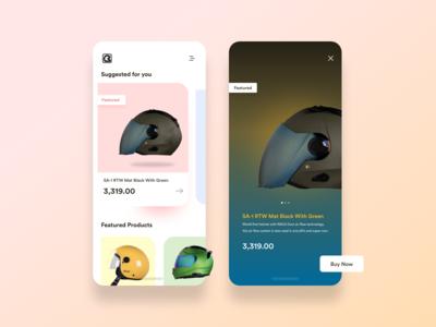 Helmet Ordering App - Concept