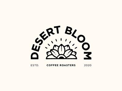 Desert Bloom Coffee Roasters Logo design typography lettering branding art graphic artwork illustrations bloom desert arizona logo coffee