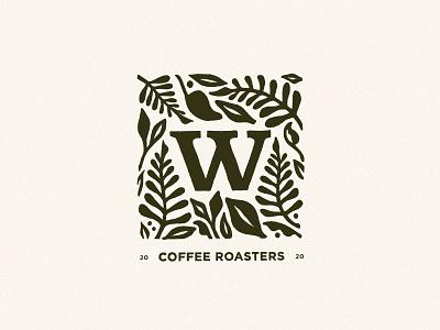 Wilderbloom Logo V2 branding roasters coffee wilderness leaf flower typography graphic logo artwork illustration design