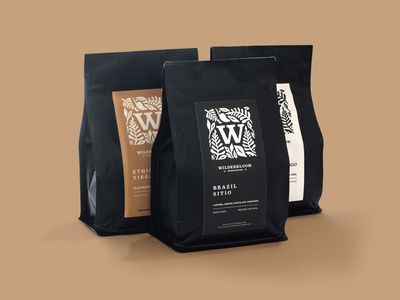 Wilderbloom Label Design coffee label branding arizona lettering typography graphic logo illustration artwork design