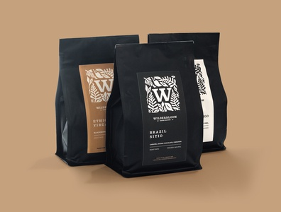 Wilderbloom Label Design coffee label branding arizona lettering typography graphic logo illustration artwork design