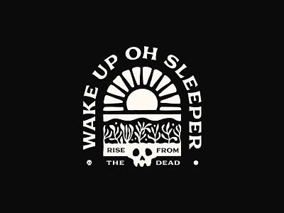 Wake Up Sleeper coffee branding sketch lettering typography graphic logo illustration artwork design