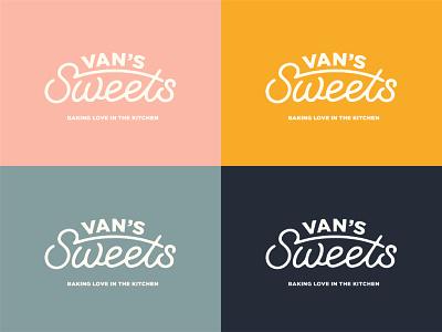 Van s Sweets Logo arizona lettering graphic bake cookies sweets branding typography logo illustration design