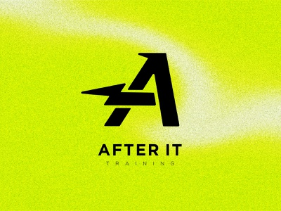 After It Training Logo graphic branding workout gym brand neon fit arizona logo training sports design