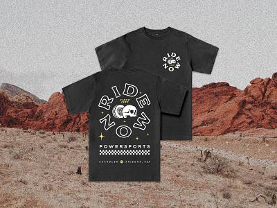 RideNow Apparel Design typography lettering ridenow racinng skull arizona graphic logo illustration design