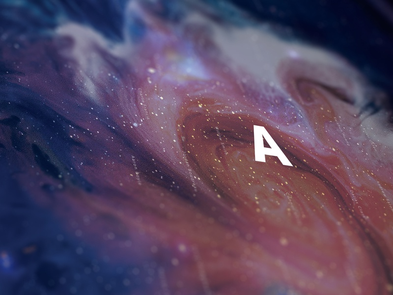 Launch Poster Crop exhibit galaxy universe poster typography lettering design
