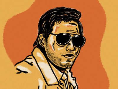 Burt Macklin FBI design drawing sketch portrait art illustration