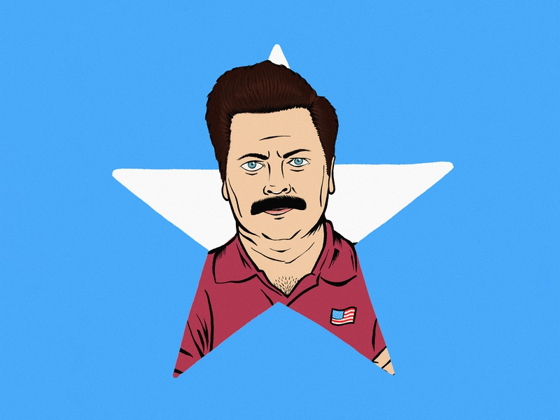 I love this country freedom july 4th holiday america ron swanson graphic digital sketch drawing logo artwork art illustration design