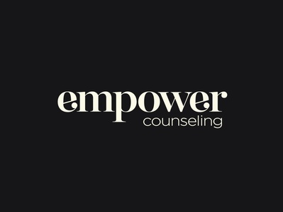 Empower Logotype lettering graphic digital artwork typography vector branding logo design