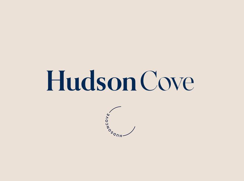 HudsonCove Logo vector graphic digital art artwork style typography design logo