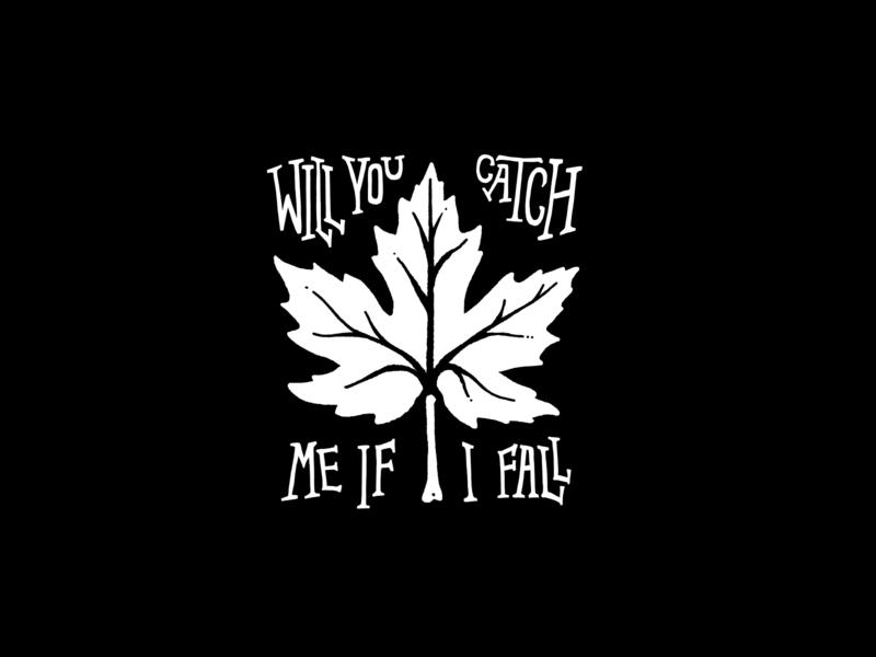 If I Fall pop punk arizona procreate leaf punk rock thestorysofar lettering sketch drawing typography artwork illustration design