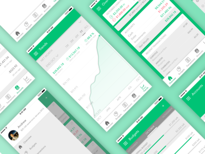 Green - Personal Finance App Design
