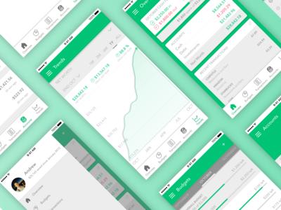 Green - Personal Finance App Design money app personal finance charts analytics ui mobile ui design