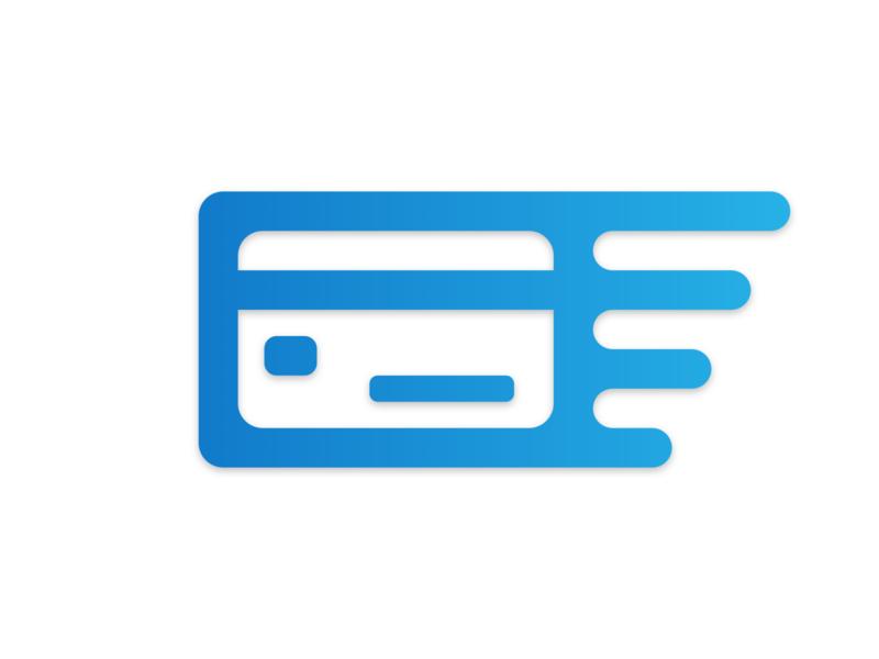 Credit card logo for personal finance app logo design money credit card finance app web app icon vector branding illustration logo
