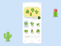 Cactus Terrarium Builder E-commerce UI