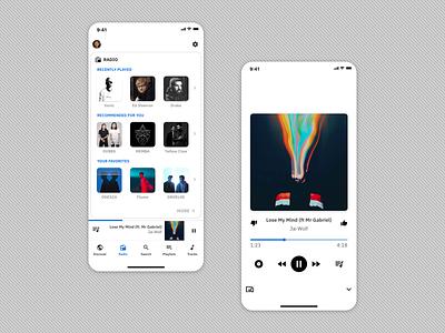 Simple music player 🎧 mobile mobile ui discography pandora radio spotify minimalist music ui design