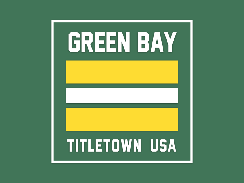 Green Bay green football packers green bay illustration logo