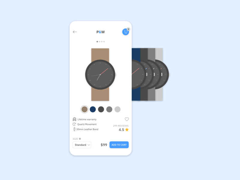 eCommerce watch store concept ui product page product design design minimalist watch ecommerce