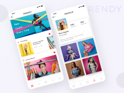 Fashion and Personal Wardrobe App Concept