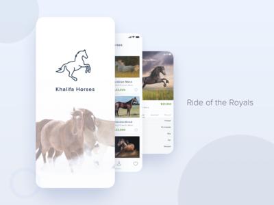 Khalifa Horses App Concept