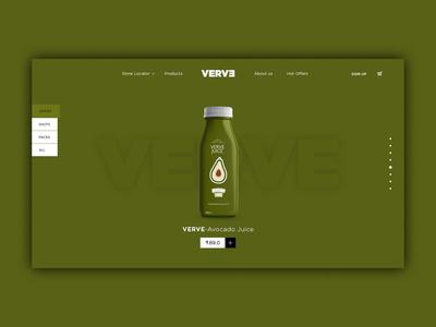 Interactive Juice Website Design Homepage UI