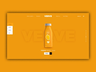 Shop online for juice and fruit drinks from VERVE. the website i