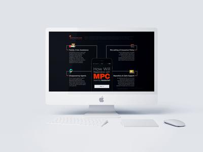 Landing Page design mockup