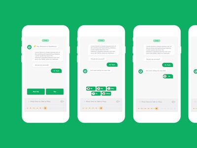 Chat-bot mock-up design ui and process-flow
