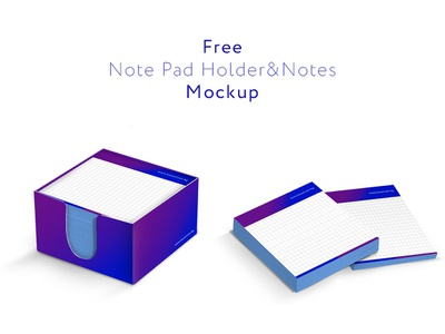 Free Note Pad Holder&Notes Mockup notes mock up