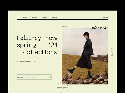 Felliney / New spring '21 collections clothes collection fashion ux branding website design webdesign web ui