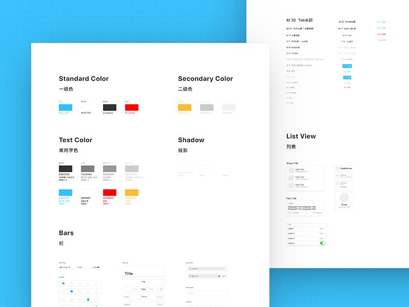 V2EX App Guideline 1.0 style design system elements kit ui kit ui baseline guideline