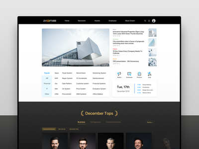 Ziroom Intranet Conceptual Design