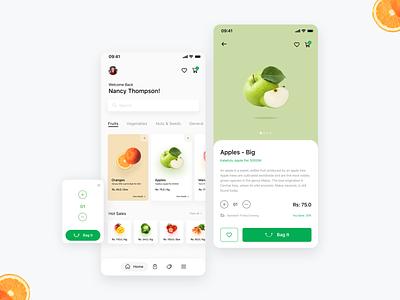 Dukandar App design uxdesign uidesign delievery store ios app design order online ecommerce app vegetables fruits foodapp food app ux ui