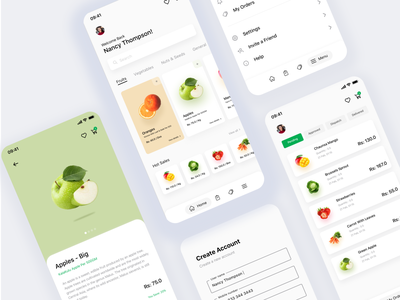 Dukandar App - All Screens userinterface ui eccomerce foodapp store superstore vegetables fruitsapp order online ios store app deliveryapp ux design