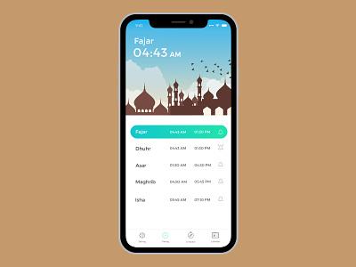 Auto Silence Prayer's App nemaz prayerapp mobileapp ux ui muslim prayer