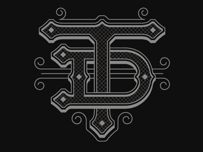 Tamdhu monogram logo lettering typography