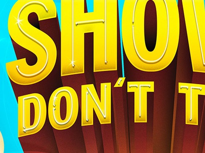 Show lettering typography illustration magazine editorial