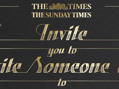 Times lettering typography foil script custom sharp