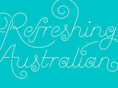 Refreshing monoline script lettering typography curly