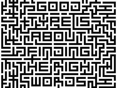 Maze type