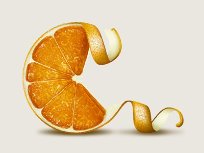 Clementine lettering type typography illustration