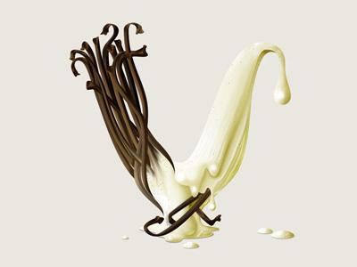 Vanilla illustration lettering type typography