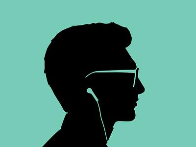 Silhouette portrait silhouette