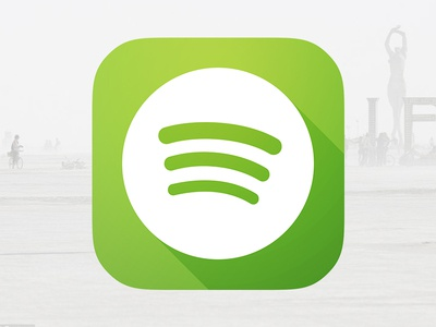 Spotify for iOS7 spotify icon ios7 iphone app long shadow remake