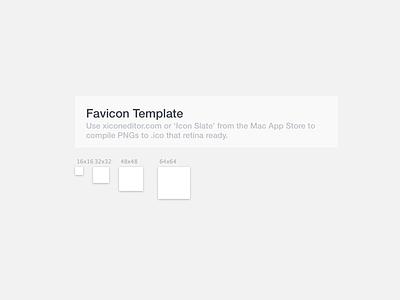 Sketch Favicon Template sketch template favicon ico website