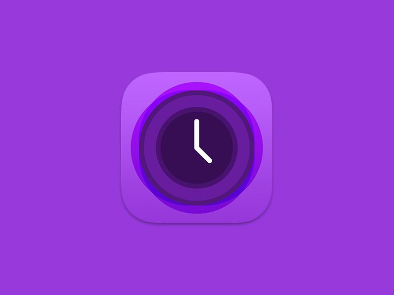 Track Hours Icon ios icon app