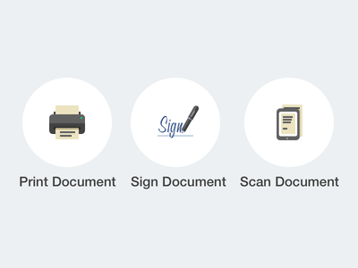 Print-Sign-Scan Icons app ios icon